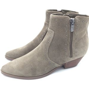 NWOB Marc Fisher WANIDA Suede Taupe Booties